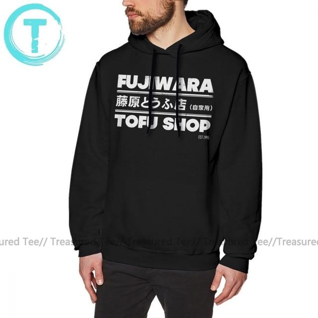 Initial D Hoodie Initial D Fujiwara Tofu Shop T Weiß Hoodies Baumwolle Männlichen Pullover Hoodie Nizza Lange Länge Herbst Grau hoodies