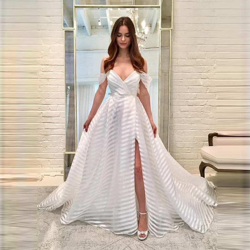 2019 Europe And America Foreign Trade New Style WOMEN'S Dress Wish Amazon Hot Selling Sexy Deep V Formal Dress