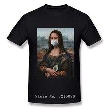 Mona lisa máscara paródia tshirts estéticas arte michelangelo vintage engraçado t-shirts para homem 2020 popular t camisa 100 algodão