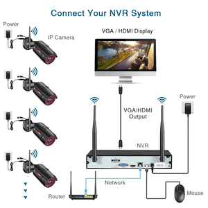 Image 3 - ANRAN 2MP CCTV אלחוטי NVR מעקב מערכת ערכת 8CH Wifi אבטחה וידאו חיצוני אבטחת מעקב וידאו מערכת ערכת IP66