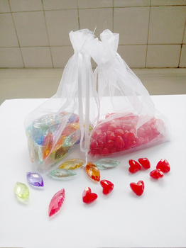 200pcs 15*20 White gift bags for jewelry/wedding/christmas/birthday Organza Bags with handles Packaging Yarn bag