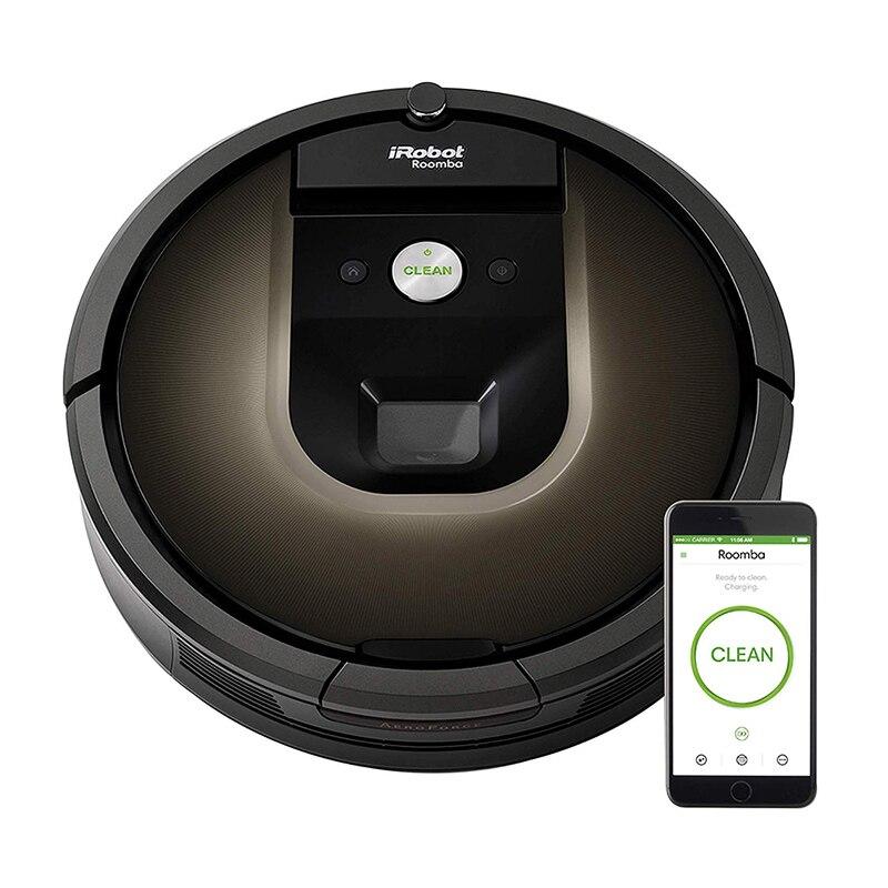 Новинка 2020, умный робот IRobot Roomba 980, робот для вакуумной очистки, подключенный к Wi-Fi, подметальная машина 10X, мощная вакуумная всасывающая емко...