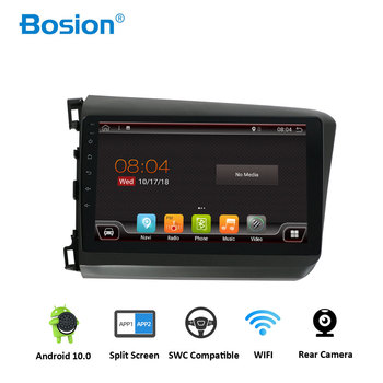 Bosion Android 10.0 Car DVD Player GPS Navigation Multimedia For Honda Civic Radio 2012-2Z015 car stereo 2 din Video multimedia image