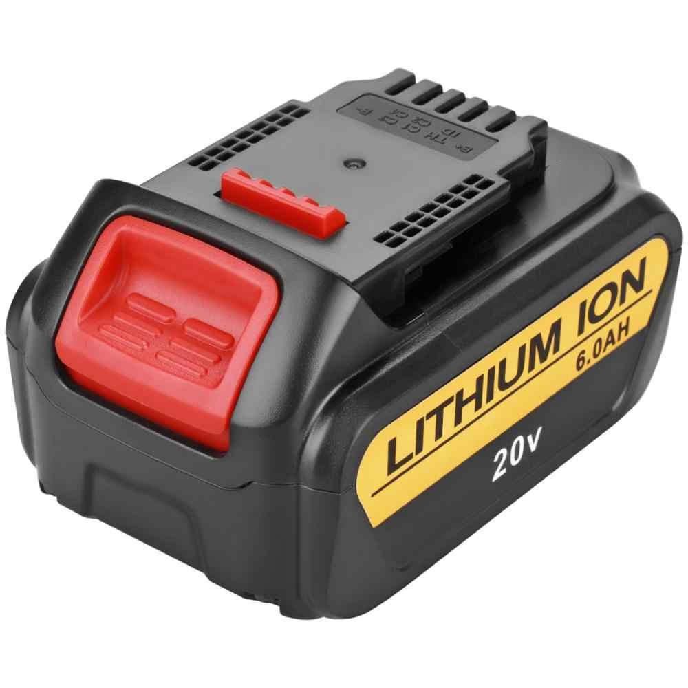 MAh 6000 V Para DeWalt 20 DCB200 MAX Ferramentas De Poder Da Bateria Recarregável Substituição DCB181 DCB182 DCB204 DCB101 DCF885