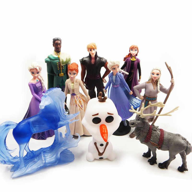 קפוא 2 אנה אלזה מלכת שלג אולף Kristoff סוון אנימה בובות פעולה איור לילדים צעצוע סט ילדים יום הולדת מתנות מתנה