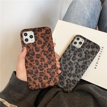 Personality Winter Keep Warm Plush Leopard Female Soft Case For Iphone 11 12 Pro Max 7 8 Plus Xr X Xs Se 2020 Phone Cover Fundas