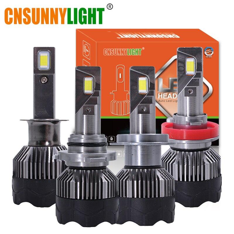 Cnsunnylight carro farol lâmpadas h7 h11 led h4 h1 9005 9006 h13 canbus nenhum erro 9000lm 6000 k 12 v 24 v luzes do farol automotivo