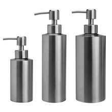 Liquid Soap Dispenser Stainless Steel Soap Bottle Kitchen Bathroom Hand Sanitizer Lotion Storage Bottle