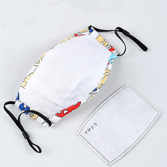 Washable Child Reusable Anti-fog Protective Face Cover Shield Mask Respirator with Replaceable Carbon Filter For Kids 1