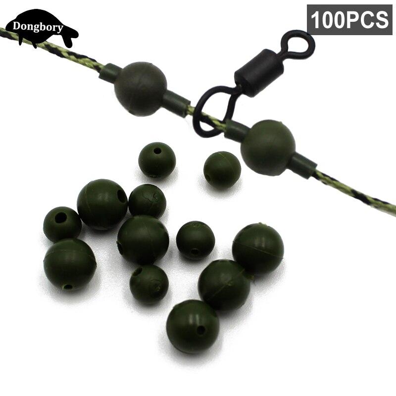 20 pièces Carpe Pêche Heli Chod Beads Green Bead Ring Swivel Release Rig
