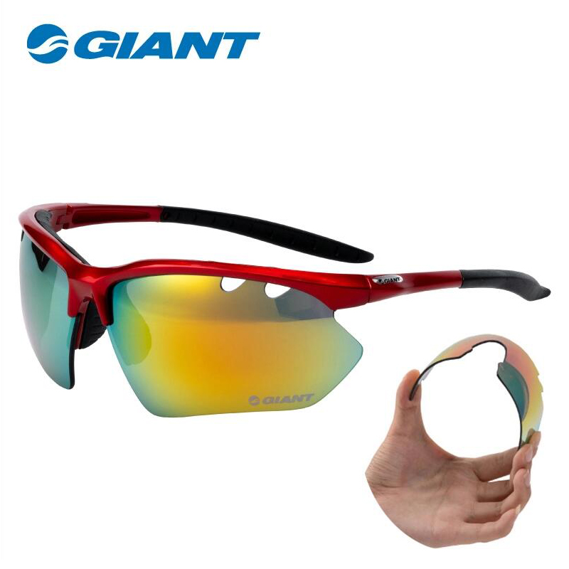 Sports Sunglasses Cycling GIANT Eyewear Bike-Equipment 5-Lens MTB GS630R Lightweight