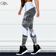 New 2019 Women Hot Yoga Pants Geometric Sport Leggings Push Up Tights Gym Exercise High Waist Fitness Running Athletic Trousers hot women bubble push up hip yoga pants sexy high elastic sport leggings tights gym exercise high waist fitness running trousers