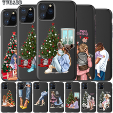 Для iphone 11 семья мама девочка мальчик Рождественская елка чехол для телефона для iphone 11 Pro Max 8 7 X XS Max XR 6 7 8 Plus 5S SE
