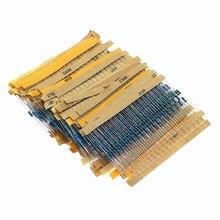 2600 pces 130 valores 1/4w 0.25w 1% resistores de filme de metal sortidas pacote kit conjunto lote resistores sortimento kits capacitores fixos