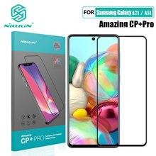 Cristal templado para Samsung Galaxy, película de pegamento completa para Samsung Galaxy A01 A11 A21 A21S A31 A41 A51 Nillkin CP + Pro