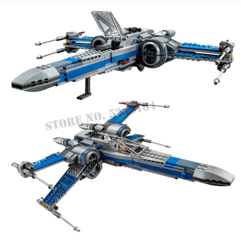 Classic Compatible Legoinglys Star Wars 75149 Order Poe's X Toys Wing Fighter Building Block Bricks Educational Gifts Starwars