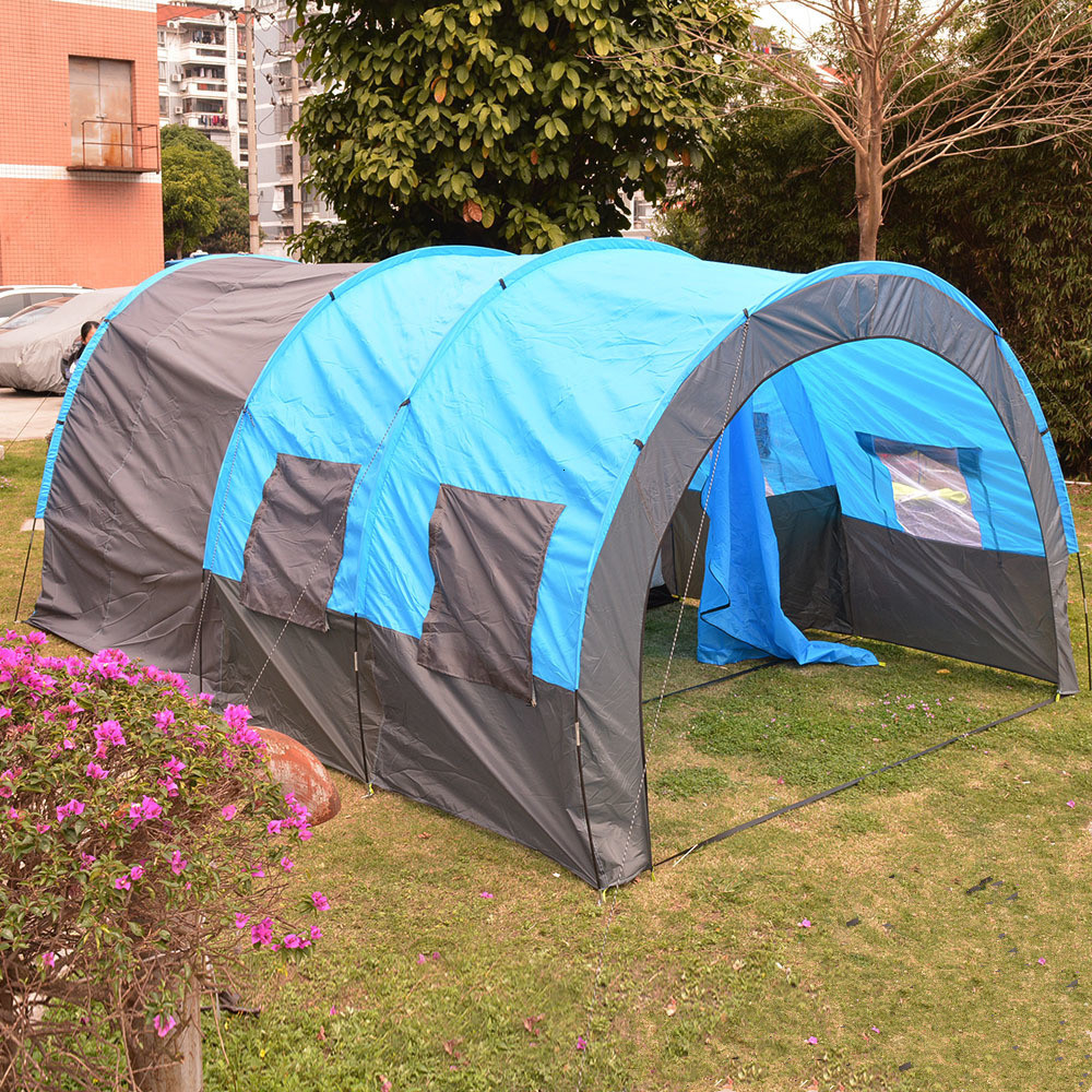5 8 Person Big Tunnel Tent Outdoor Waterproof Camping Tent ...