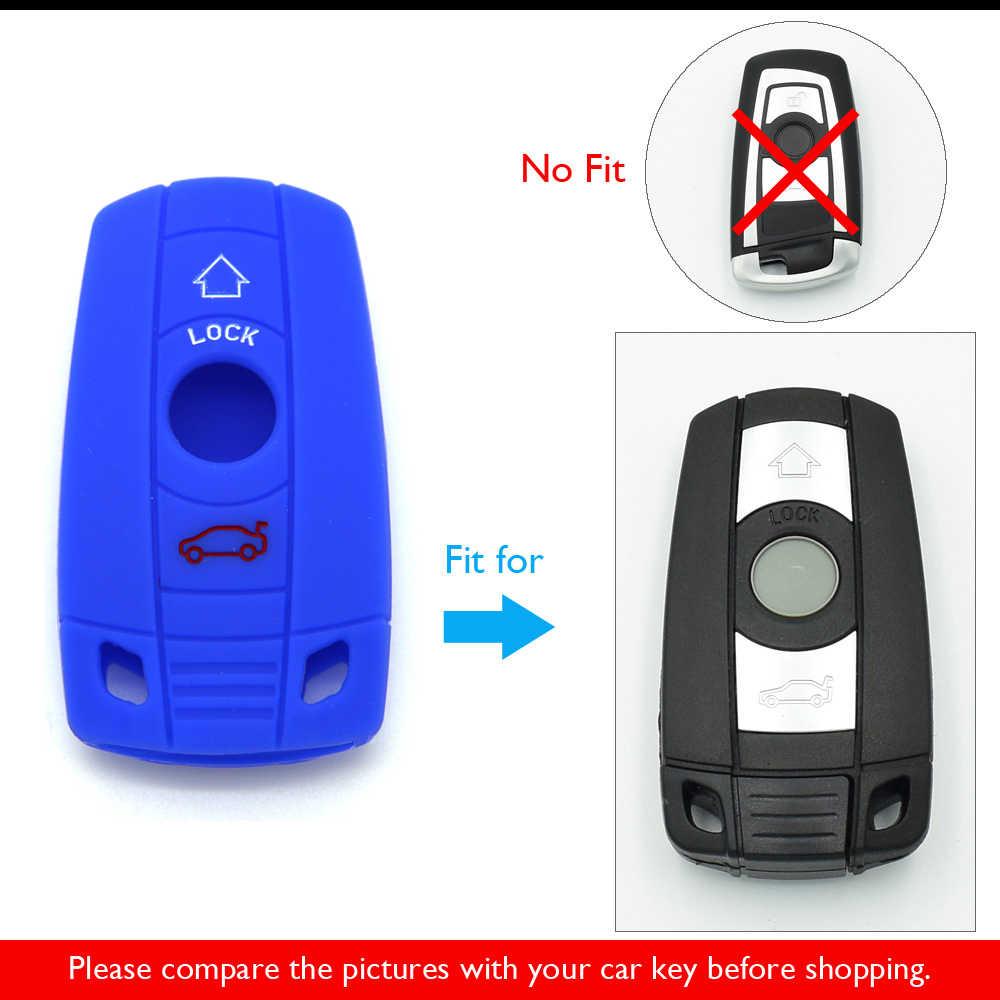 Car Key Case Cover For BMW E60 E90 E46 E70 E87 E36 E39 E91 E92 E38 E39 E53 3 5 7 Series M3 M5 X1 X3 X5 X6 Z4 Silicone Keychain