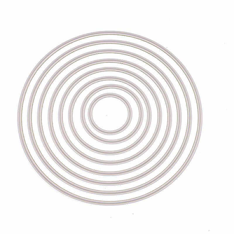 8pcs Rodada Círculo de Metal Corte Morre Estêncil Novo 2019 para DIY Scrapbooking Ofício Morre Corte Decoração Cartões de Fotos