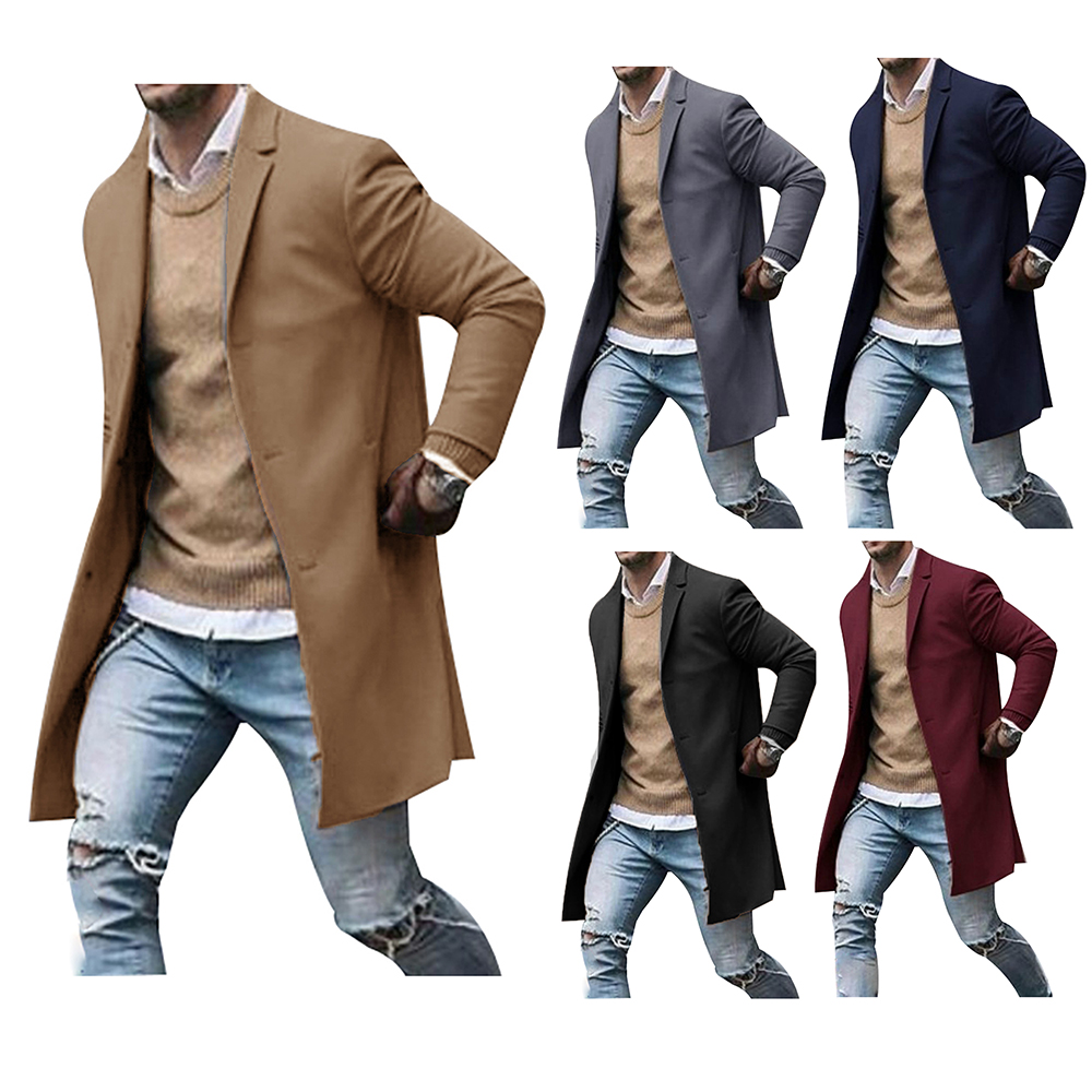 Men's solid color suit long sleeve business gentleman formal coat куртка мужская зимняя