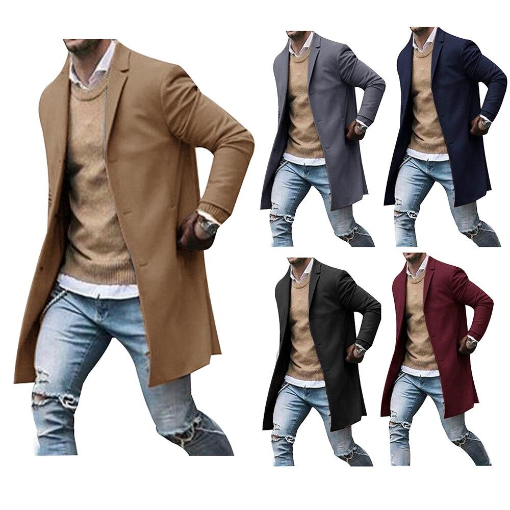 Men's solid color suit long sleeve business gentleman formal coat куртка мужская зимняя