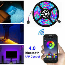 5V Usb Power Led Strip Licht Rgb 2835 3528 60LED/M Bluetooth Muziek Remote Wifi App Controle Tv pc Backlight Flexibele Licht IP67(China)