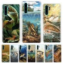 Angeln Getriebe Fisch Gemusterte Phone Fall Für Huawei Ehre Y5 Y6 Y7 Y9 Y9 9 10 20 Lite Pro 7A 7X 8S 8X 8A 9X 1020i 2019 Abdeckung Shell