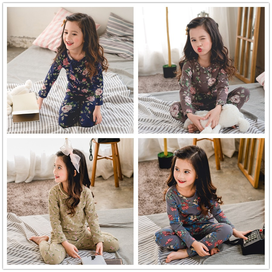 Girl'S Underwear Pack 2019 Spring And Autumn Children Thermal Underwear Sweater Baby Girls Pajamas Tracksuit Korean-style Warm