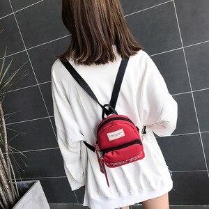 Image 4 - Ougger Woman Shoulder Bag Concise Fashion Simple Canvas Ins Ladies Mini Leisure Crossbody Bags Women Messenger Bag with Zipper