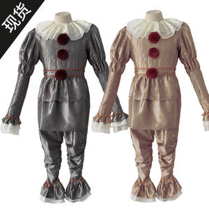 Cosplay Suit Pennywise Party-Costume Joker Halloween Women Clown Adult for Movie Children