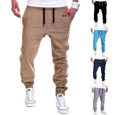 2019 Foreign Trade Men's European And American Tethers Elastic Sports Brakes Open Pants Open Pants