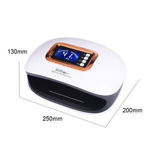 Image 5 - 72/54W UV Lamp LED Nail Lamp Two Hand Lamp Nail Dryer Manicure Curing Nail Gel Polish Auto Sensor Clear time display With 36 LED