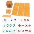 Математика Монтессори развивающие игрушки Золотой Материал бусин символ с лотками дети 5 лет Обучающие игрушки студентов развивающие ариф...