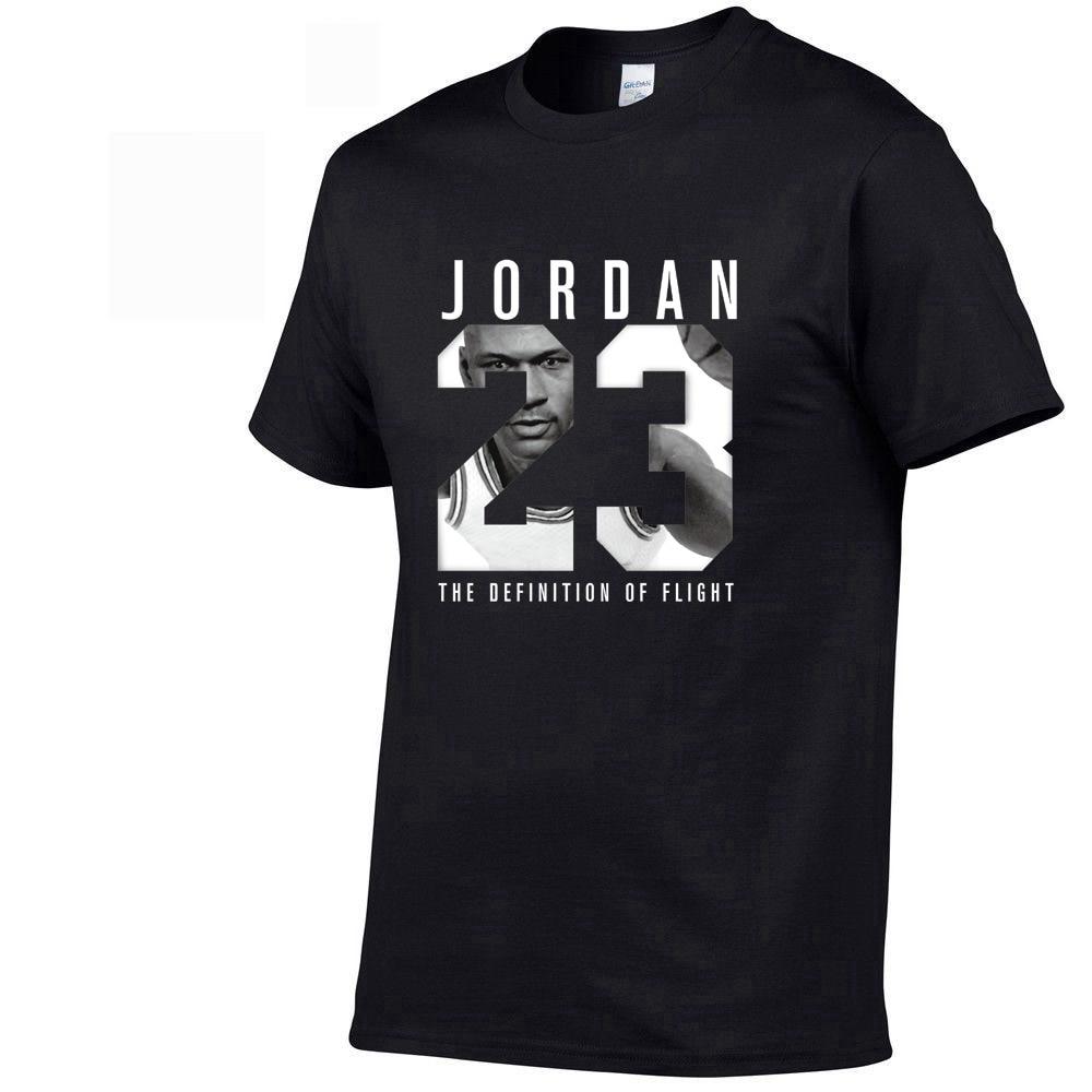 2019 Summer New Brand Tee Jordan 23 Print Men Swag T-Shirt Top Quality Cotton Jordan 23 Hip Hop Short Sleeve T Shirt Men