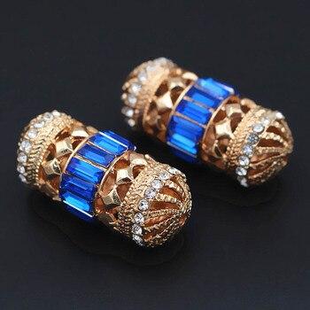 10 Uds cuentas africanas de Color cristal pavimentado cuentas separadoras de metal DIY Accesorios para hombres mujeres boda diseños de conjunto de joyería