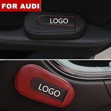 Acessórios do carro macio e confortável pé apoio almofada porta do carro almofada braço estilo do carro para audi logotipo sline q3 q7 tt a8 a6 c5 c6
