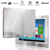 Haocrown 27 Inch Mirror TV for Bathroom Smart Touch Screen Waterproof Android Television Full HD 1080P Built-in Wi-Fi Bluetooth 2