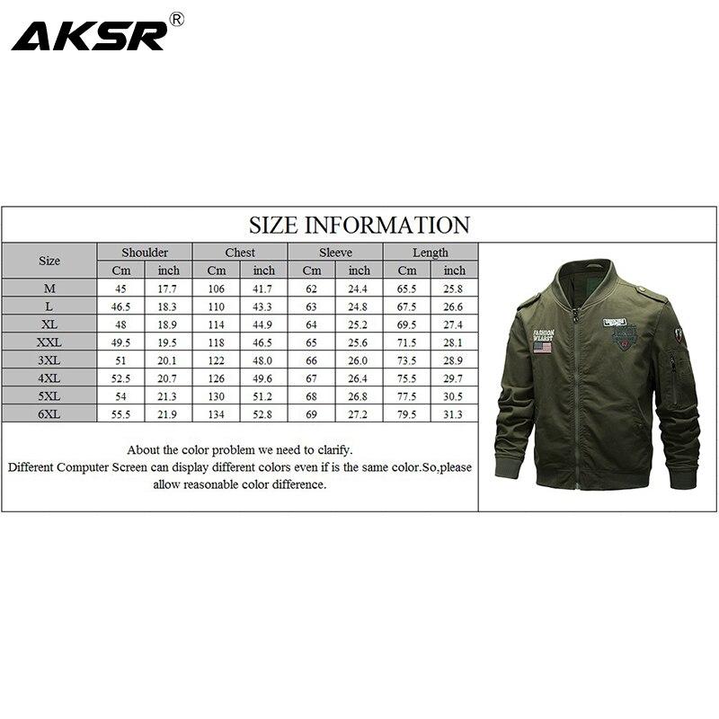 AKSR мужская куртка военная куртка Мужская модная одежда летная Куртка удобная, мягкая и эластичная ткань - 6