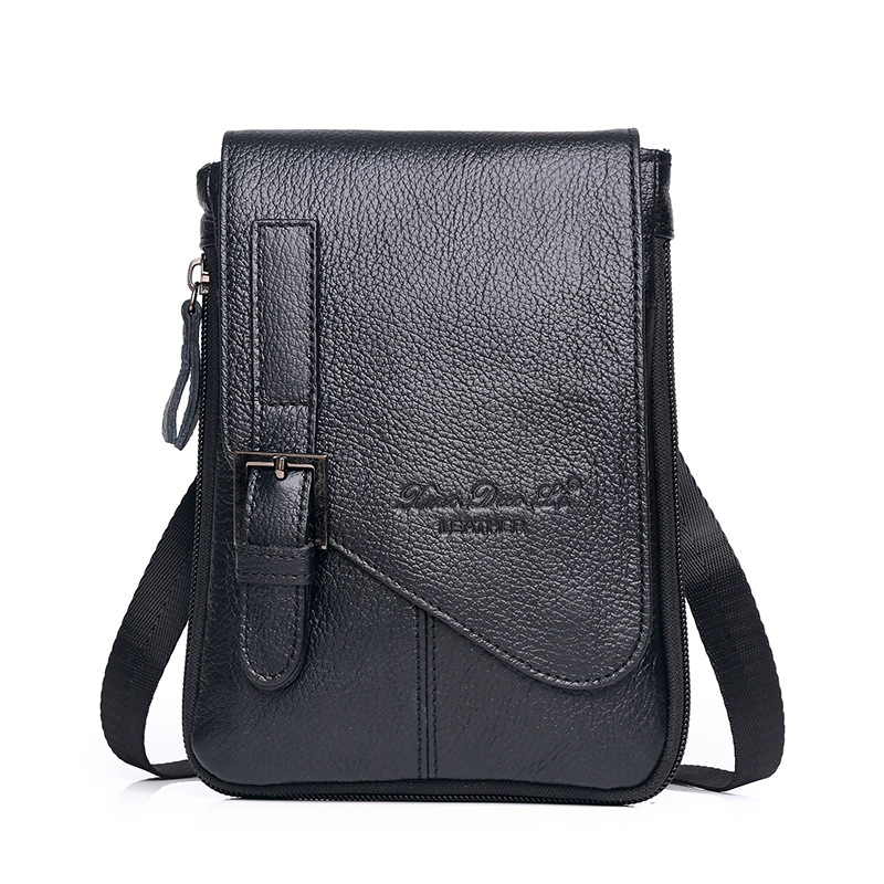 XiaoDuoLi Brand Genuine Leather Multi-function Cell Phone Pouch Waist Belt Cross Fanny Pack Men Cowhide Shoulder Messenger Bags