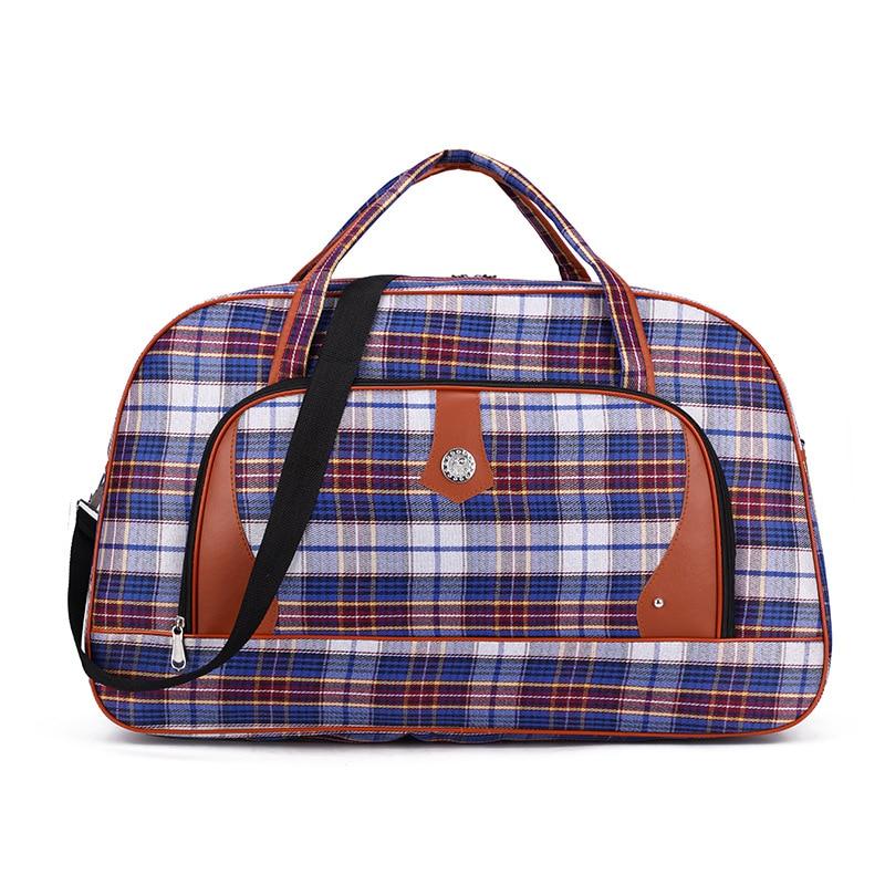 Travel Weekender Duffel Bag for Man and Woman Gym Bag with Fashion Tartan Casual Print