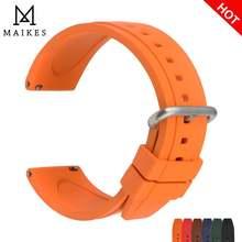 Ремешок для часов maikes резиновый быстросъемный спортивный