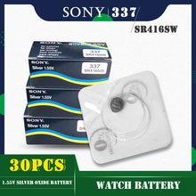 30 sztuk/partia dla SONY oryginalny 337 SR416SW 1.55V baterie guzikowe tlenku srebra LR416 337A AG6 dla zegarka pojedyncze ziarna pakowania