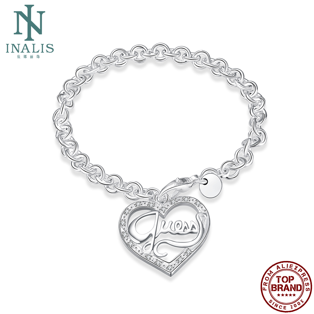 INALIS Romantic Hearts Charm Bracelets Unisex Classic Round Copper Bracelet For Women And Men Birthday Fashion Jewelry Gift Best