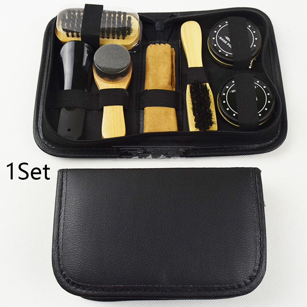 Gift Household Shoe Polish Kit Father's Day With Case Cloth Sneakers Sponge Cleaning Tool Brushes Boots Care Portable Birthday