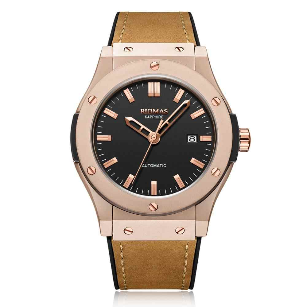Fashion Kasual Hublo Watch Automatic Mechanical Watch Reloj Hombre Top Brand Mewah Kulit Jam Tangan Ruimas Jam Tangan 6759