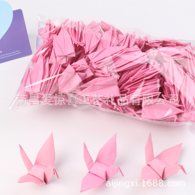USD 11.39] ! Candy-colored thousand paper crane finished products ... | 760x776