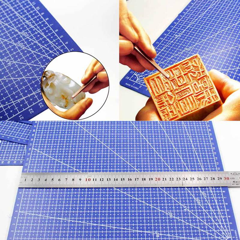 A3 Cutting Mat Plastic Cutting Mat Rectangular Grid Line Cutting Pad Tool 45 Cm * 30 Cm