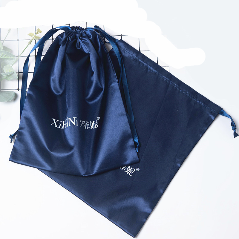 50pieces Glossy Satin Storage Bag For Jewelry / Makeup / Wedding / Party / Wig / Shoes / Ribbons / Drawstring Bag Custom Logo