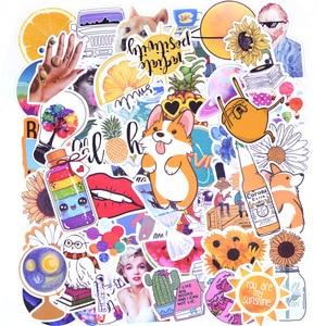 Image 4 - 50 本冷夏 vsco ステッカーパックピンク少女アニメ stiker 子供のためのラップトップ冷蔵庫電話 skateboard スーツケースステッカー