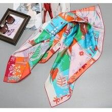 100% Silk Scarf 90 Large Square Silk Scarfs Wraps Foulard Wo